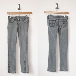 Sass & Bide Skinny Ankle Snap Gray Jeans- 26